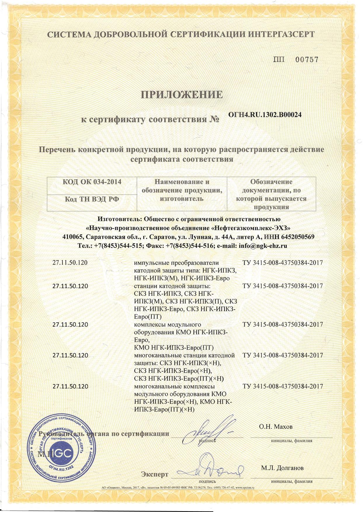 24 Нефтегазкомплекс-ЭХЗ (ИПКЗ)-2